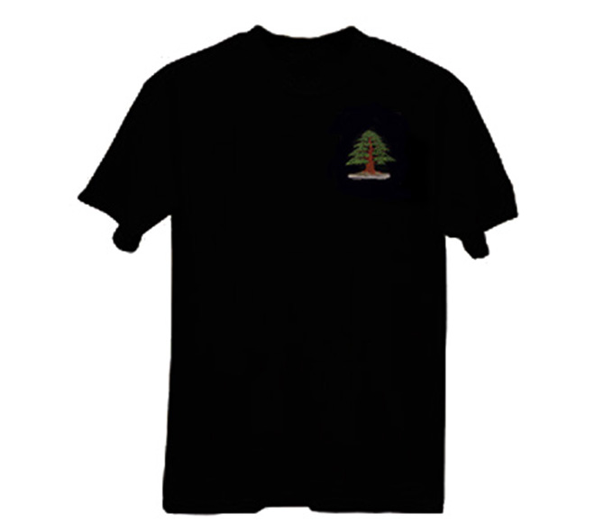 New bonsai embroidered t shirts bonsai bark for 5 11 job shirt embroidery